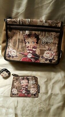 Betty Boop Pink Roses Purse & Change Purse Karactermania NWT