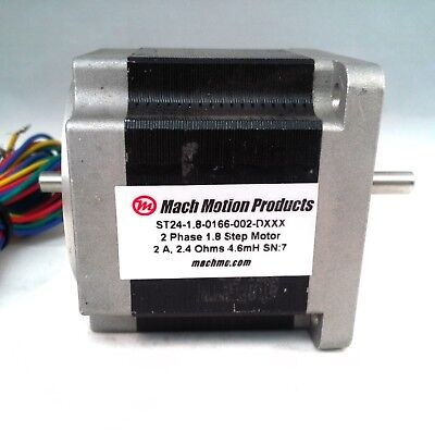 60mm Stepper Motor, 166 Oz-in Holding Torque, 2.0 A/ph, 1.8º Step Angle