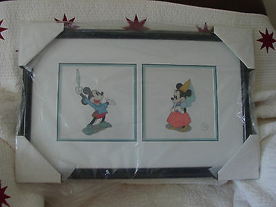 "Disney Sericel Brave Little Tailor ""Storybook Sweethearts"" Mickey and Minnie NEW"
