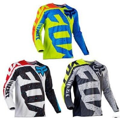 Motocross Jersey FOX Extreme Sports 3 Color Off Road Clothing Quick Dry Function