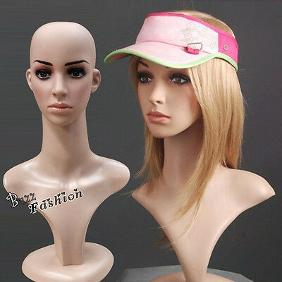 Nude Head Model Mannequin Manikin Stand Wig Hair Display Hat / Pictures Taking