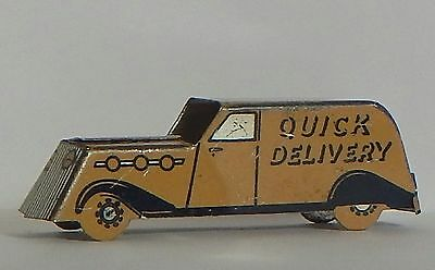 """Vint 1930 Cracker Jack Metal Litho Panel Truck """"mary Lu"""" Quick Delivery"""