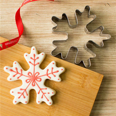 Xmas Snowflake Stainless Steel Biscuit Pastry Cookie Cutter Cake Decor Mold Tool