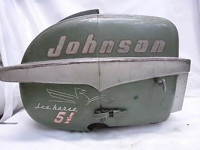 1955 Johnson Cd-12 5.5Hp Shroud Hood Engine Cover Cowling Motor Boat Outboard