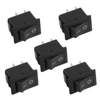 10 Pcs SPST ON/OFF Switch Mini Black 2 Pin Rocker Switch DC 12V 16A Tool Set