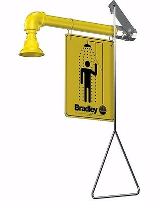 Bradley S19-120 Horizontal Drench Shower With Signage