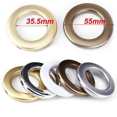 20X Round Shape Eyelet Curtain Rings Clips Grommet Blinds Drapery Accessories