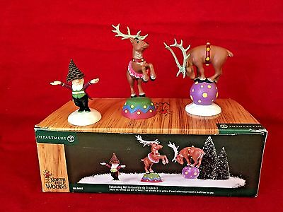 Balancing Act (set of 3) Dept 56 North Pole Woods 56932 christmas retired snow