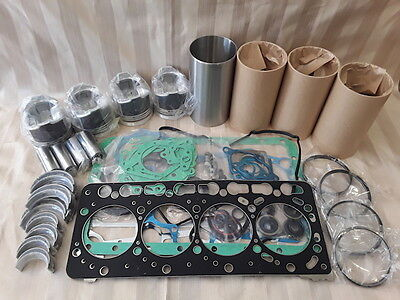 Kubota V3300 Overhaul Kit / Liners, Pistons, Rings, Bearings, Gasket Set