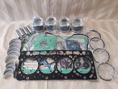 Kubota V3300 Overhaul Kit / Pistons, Rings, Bearings, Gasket Set
