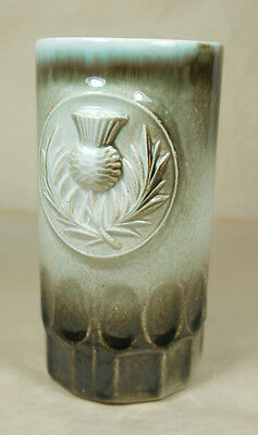 Scottish Thistle Handmade Beer Stein, simple no lid, ceramic or stoneware 12 oz