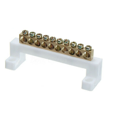 New 10 Positions Screw Barrier Electric Cable Connector Terminal Strip Block Bar