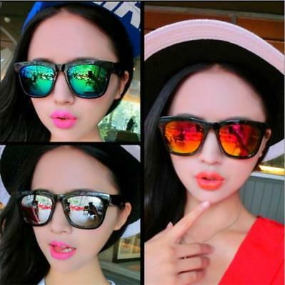 Fashion Women Men Vintage Retro Glasses Unisex Aviator Mirror Lens Sunglasses AU
