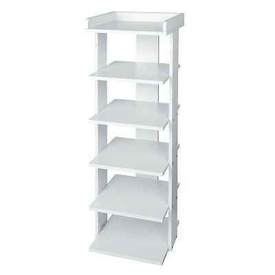 6 Tiers Sturdy Shoe Rack Storage Stand Holder Shelves Display Home Organiser