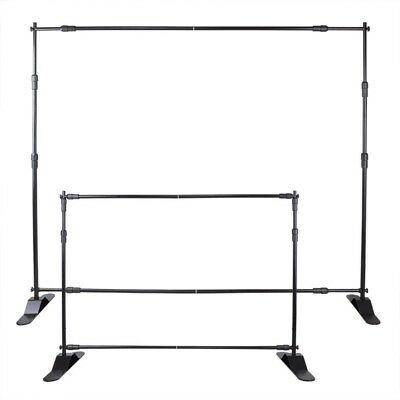 BLACK SHOW DISPLAY BANNER STAND 10' x 8' ADJUSTABLE LIGHTWEIGHT REUSEABLE