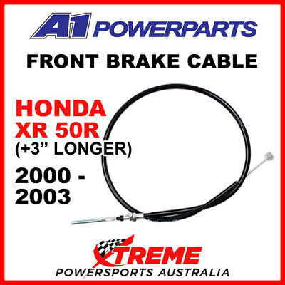 """A1 Powersports Honda XR50R XR 50R 2000-2003 Front Brake Cable +3"""" 50-495-30"""