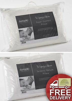 Dunlopillo Pillows Breathable Latex Luxury Deep or Slim 100% Cotton Cover New