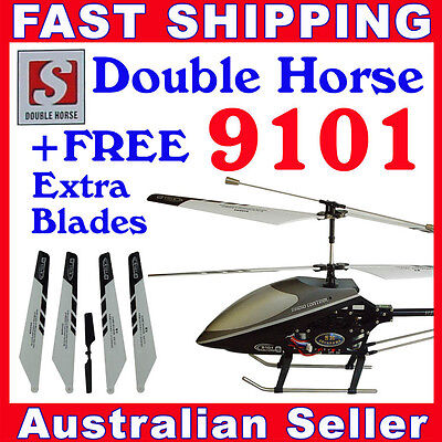 Double Horse 9101 RC Helicopter Gyro 3.5 Ch with Free Spare Blades
