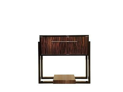 Small Bar Cabinet Art Deco Style with Macassar Wood