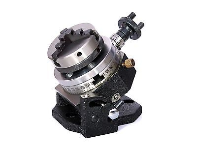 3 Inches (75 mm) Tilting Rotary Table -4 Slots & 65 mm 3Jaw Self Centering Chuck