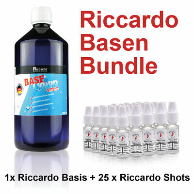 Nikotin Basis Bundle Riccardo 34,95€/1L Cloud Base 1000ml 5mg Shots E-Zigarette