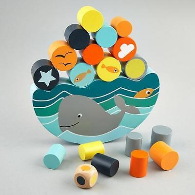Floss & Rock - Balancing Game Whale - wooden toy