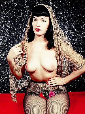 Bettie Page Nude Color Poster 18X24 NEW FREE SHIPPING