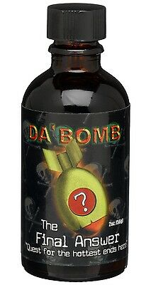 Da' Bomb The Final Answer Extremely Hot Chili Sauce Habanero Pepper Chilli 2oz