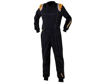Alpinestars KMX 9 Junior Kart Suit Black / Orange Fluo 120 UK KART STORE