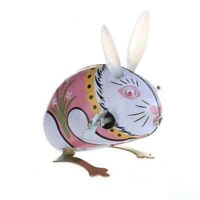 TIN TOY WIND UP clockwork BUNNY RABBIT Vintage Retro Easter Gift Collectible New