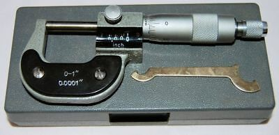 "0-1"" Imperial Engineers Mechanical Digital Micrometer with Carbide Faces"