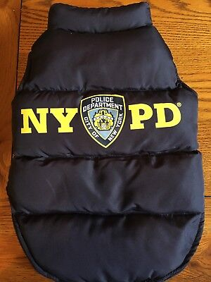 Nyc Nypd Official Dog Coat (L)