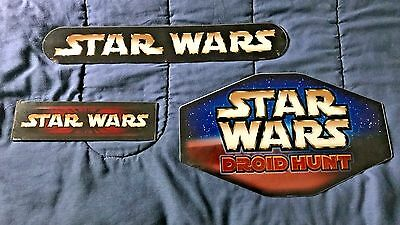 STAR WARS Acrylic Store Display Sign Lot (1-sided signs)