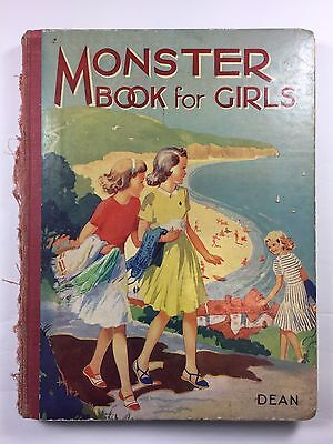 Vintage Children's book Monster Book for Girls Circa 1933 Rare Collectable