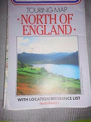 NORTH OF ENGLAND  touring map.