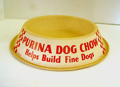 Nifty Mint 1960 Purina Dog Chow Helps Build Fine Dogs Advertising Sign Dog Dish