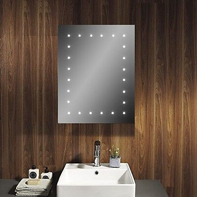 led bathroom mirror wall hanging battery powered cosmetic mirror frameless new 163 25 99