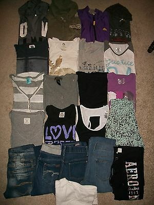 Guc! Lot Of 22 Girls 14 16 Xs S Namebrand Fall Winter Justice Ae Aeropostale