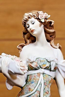 """Giuseppe Armani """"Lady with Flowers in Hat"""" 961C Original Box NEW Mint SIGNED"""
