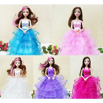 5Pcs Fashion Party Dolls Dress Clothes Gowns Clothing for Barbie Accessories