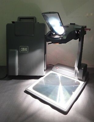 3M Compact Folding Overhead Projector 2770 with Built-in Case Grey School