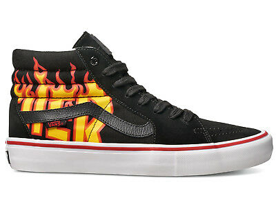 NEW Vans X Thrasher Sk8 Hi Pro Shoes Black/White