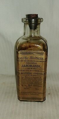 Antique Apothecary Bottle Lloyd Brothers Pharmacy Pharmaceutical Medicinal Herb