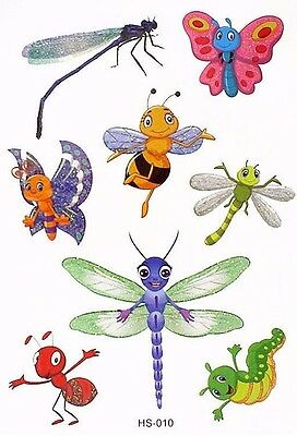 Insects Bees Ants Kid Child Temporary Tattoo Body Art  Kids Fake Tattoo Stickers