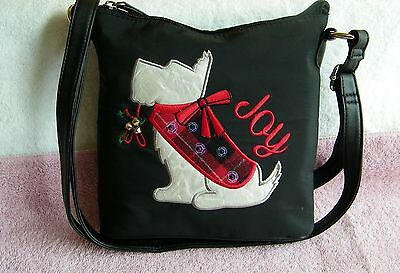 """New """"Rosetti"""" West Highland White Terrier Holiday Christmas Purse Pocketbook"""