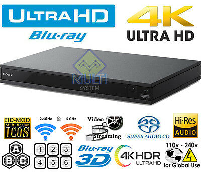 SONY UHD UBP-X800 4K Region Free DVD & BD ZONE ABC Blu-Ray Disc Player 3D WIFI