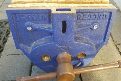 IRWIN Record - 52.1/2PD Plain Screw Woodworking Vice 230mm (9in)  with quick rel