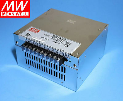 Mean Well 250W 24V (S-250-24) UL Certified Power supply, From USA