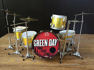 Tré Cool Green Day Uno! Dos! Tre! Miniature Drum Set  - FREE Shipping within US