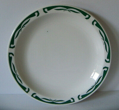 Vintage HOMER LAUGHLIN BEST CHINA B8 Green Trim Luncheon Plate Restaurant Ware